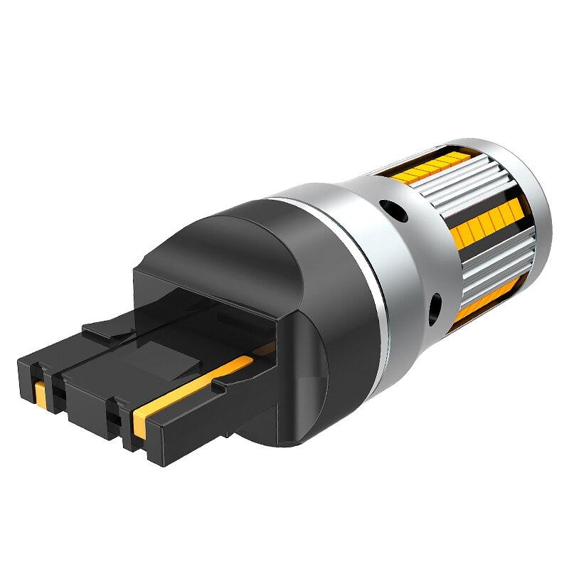 Image 2 - 2Pcs No Error Hyper Flash Turn Signal Lamp T20 7440 W21W LED Bulb 1156 BA15S P21W Canbus Car Lights Amber Yellow 12VSignal Lamp   -