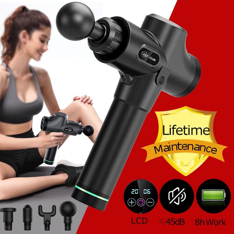 8 h muscle massager do corpo arma de massagem terapia massageador exercício alívio da dor muscular corpo moldar recuperação músculo relaxar massagea