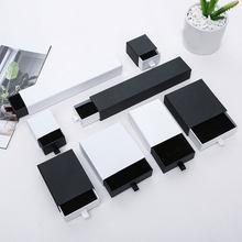 Schmuck Box Schwarz und Weiß Schublade Box für Ring Ohrringe Halskette Armband Schmuck Verpackung Lagerung Geschenk Boxen für Schmuck