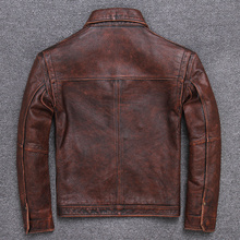 Winter Autumn Genuine Leather Jacket Men Streetweaar Real Sheepskin Co