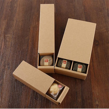 Customized Multi Piece Partition Cookie Box Macaron Drawer Kraft Paper Event Party Supplies Gift