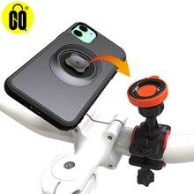 Suporte do telefone da bicicleta com caso de montagem rápida para o iphone 11 pro xsmax 8 plus 7 montagem da bicicleta preto pc matte caso do telefone