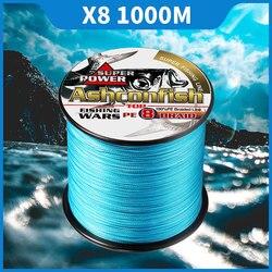 Super longline żyłka 1000M 8 nici 6 10 200 300LB mocne żyłki pe plecionki wędkarskie 0.1-1.0mm linka wędkarska