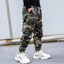 Cargo-Pants Joggers Boys Kids Camouflage Cotton Trousers Teenage Casual 12-14-Years