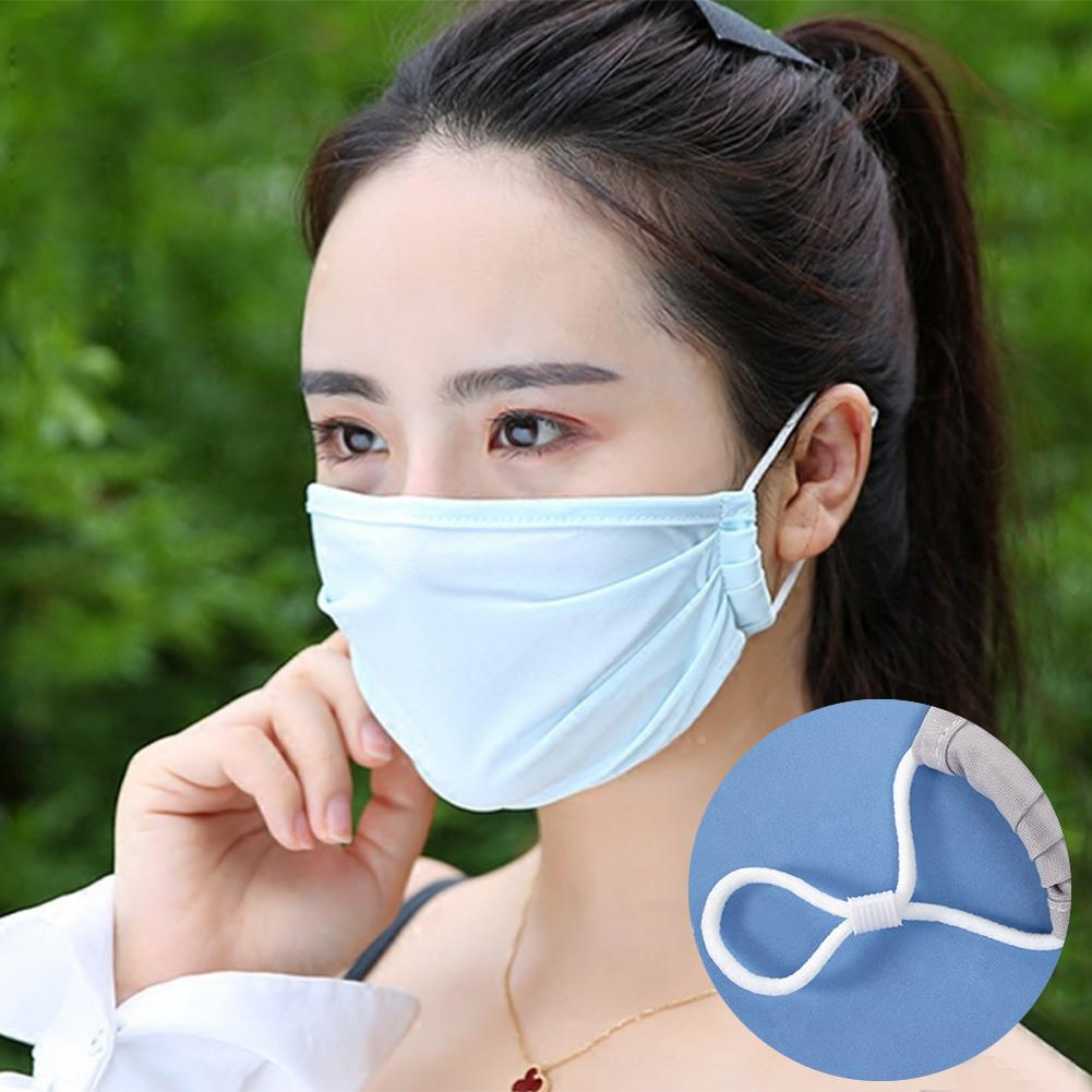 Summer Breathable Sunblock Anti Dust Haze Ice Silk Protective Face Mouth Mask Hygiene Mask In Stock Fast Shipments