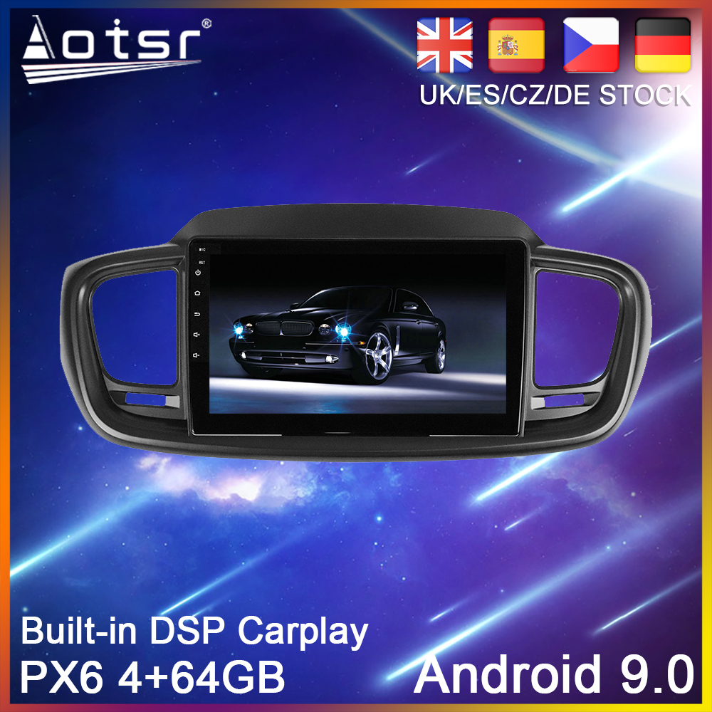 Android 10.0 64G PX6 Car radio Player GPS Navigation For Kia Sorento UM 2014-2017 Auto Stereo Multimedia Video Player HeadUnit image