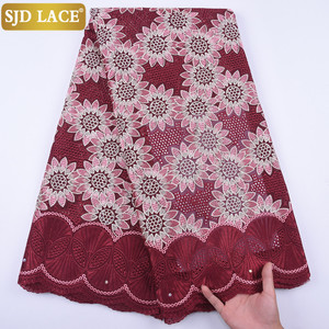 Image 4 - 5Yards Garment Material Original Swiss Voile Lace In Switzerland Eyelet African Nigerian Dry Lace Fabric For Healthy Skin A1728