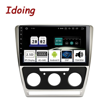 "Idoing 10.2""2.5D Android 9.0 Car GPS Multimedia Player For SKODA Octavia 2 2008-2014 A5 Car Navigation Radio Video Audio Player"