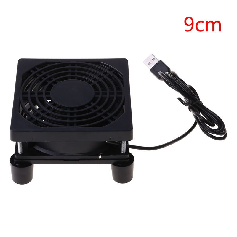 9cm/12cm Cooling <font><b>Fan</b></font> DC <font><b>5V</b></font> <font><b>USB</b></font> Power Supply Quiet <font><b>Fan</b></font> for Router TV Set-Top Box Cool <font><b>Fan</b></font> image