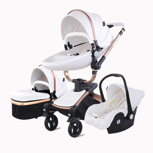Baby stroller high landscape can sit reclining inflatable wheel trolley shock absorber light folding cart