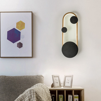 Modern contracted LED wall lamp Nordic creative living room corridor lamp acrylic bed head round personality bedroom lamp E27