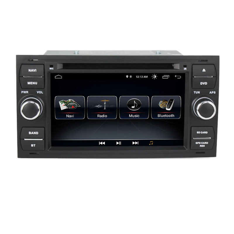 7 Inch Android 8.1 2+32G <font><b>GPS</b></font> Navigation 2 DIN <font><b>Car</b></font> <font><b>DVD</b></font> Radio Player for Ford Mondeo Focus C-MAX Galaxy Fiesta Form Fusion image