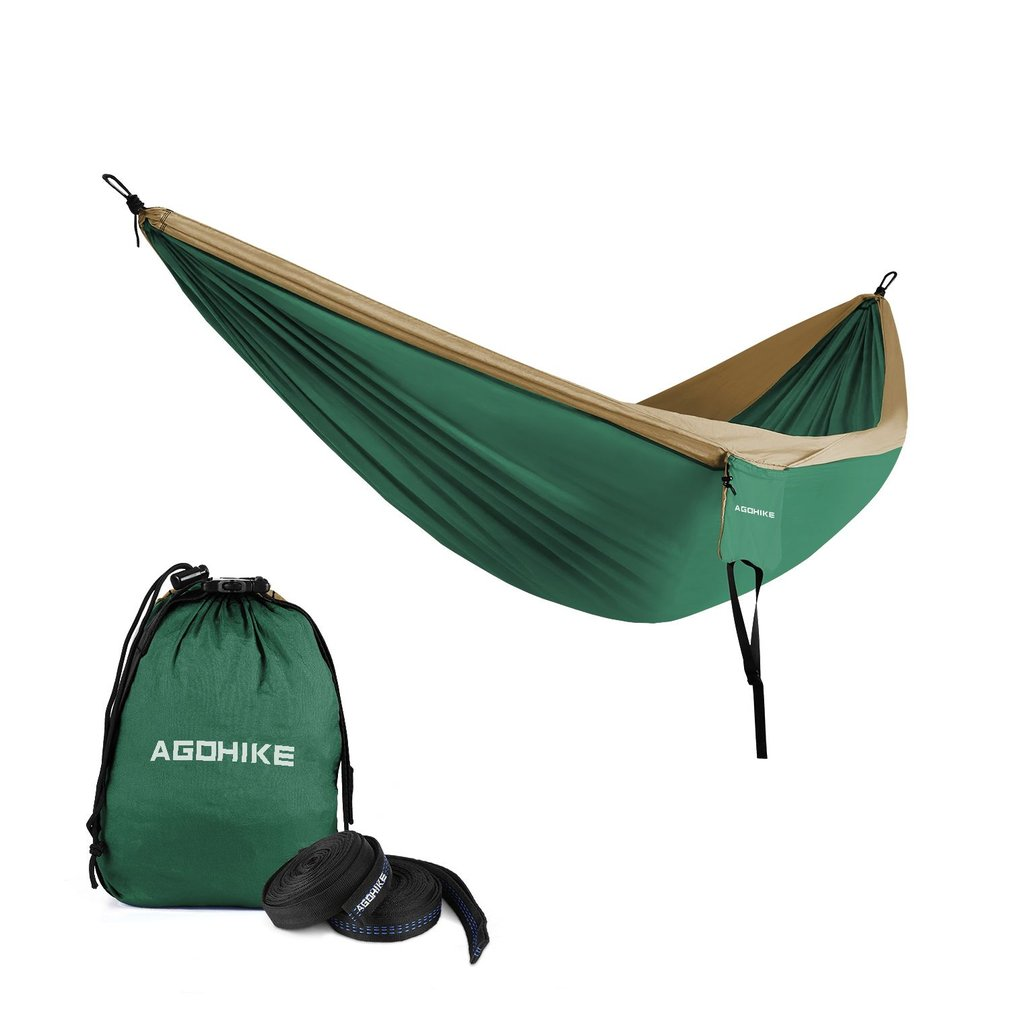 Portable Camping Hammock Parachute Nylon Cloth Sleeping Swing Hammock For Outdoors Backpacking Travel Beach