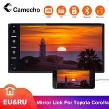 Camecho автомобильное радио 2 Din мультимедиа FM навигационный плеер зеркальная связь Авторадио 2 din с камерой стерео для Toyota Corolla