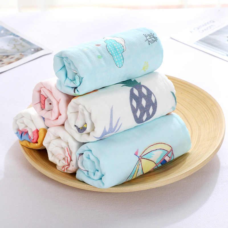 25*25 100% bebé de gasa de algodón Pañuelo cuadrado toalla muselina de algodón bebé Toalla de cara paño de limpieza apaciguar toalla 5 unids/lote