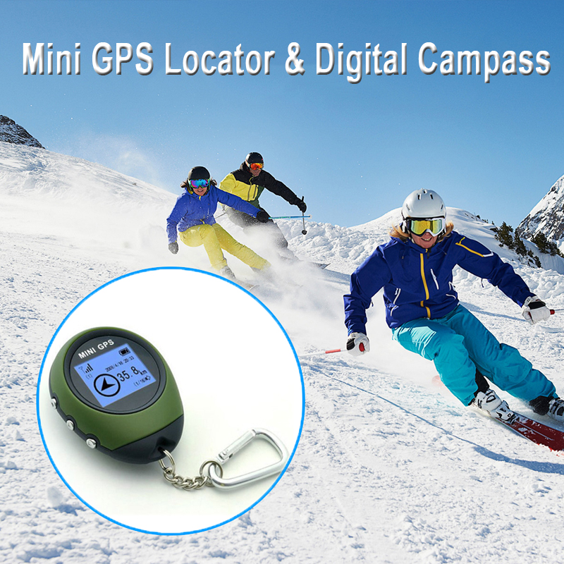 Rechargeable Mini GPS Navigation Locator GPS Receiver Anti-Lost Waterproof Handheld GPS Electronic Compass For Outdoor Travel