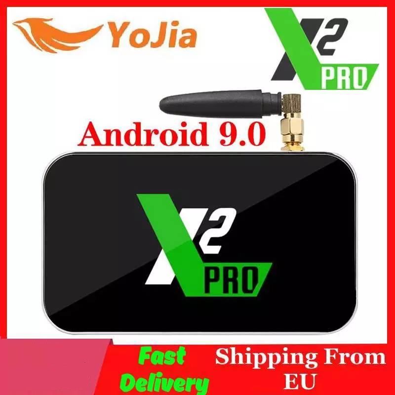 X2 Pro TV Box Android 9.0 4K Smart Media Player X2 CUBE 2G 16G Amlogic S905X2 2.4/5GHz WiFi 1000M Bluetooth 4GB 32GB Set Top Box