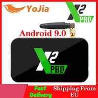 X2 Pro TV caja Android 9,0 4K Reproductor Multimedia Inteligente X2 cubo 2G 16G Amlogic S905X2 2,4/5GHz WiFi 1000M Bluetooth 4GB 32GB Set Top Box