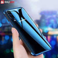 Capa de telefone para samsung a30s a50 caso pára-choques claro chapeamento silicone capa para samsung galaxy a50 a 50 a30s um 30s a50s caso
