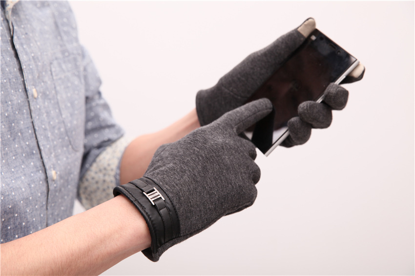 Mobile Phone Touch Screen Business Gloves Men's Autumn And Winter Classic Outdoor Warm Driving Plus Cashmere Gloves