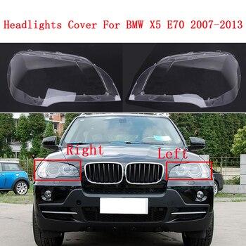 Car front Headlight glass headlamps transparent lampshade lamp shell masks E70 Headlight Cover lens for BMW X5 E70 2007-2013
