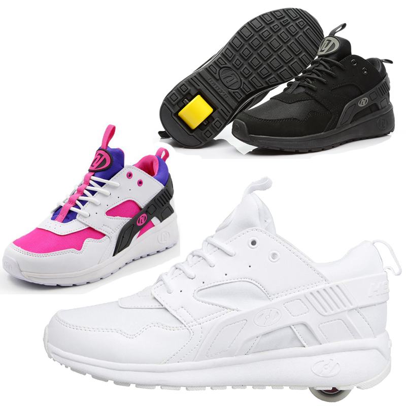 Heely Boy Sneakers With Wheel Kids Roller Shoes Outdoor Sports Wheels Trainers Girls Breathable Casual Skate Tenis