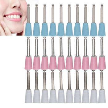 10pcs Dental Polishing Burs Low Speed Dental Grinding Polisher Burs Drill Bits Set Cup Shape Oral Care Tools Dentist Supplies