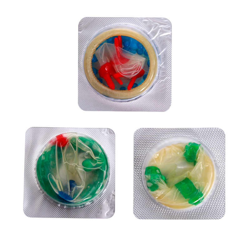 5 Pcs G-Tempat Stimulasi Kondom untuk Pria Dewasa Sensitif Orgasme Kondom Lateks Dihiasi Ribbed Merangsang Vagina Mainan