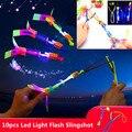 Светодиодный светильник s flash, Рогатка, светильник, игрушка, вечерние светящиеся реквизиты, Детские вечерние подарки, Бамбуковая стрекоза, f, ...