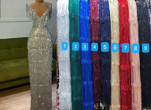 3D Tassel Sequined Lace African Lace Fabric 2020 High Quality Lace with Sequins,Latest Net Nigerian Lace Fabric for party ZP1012