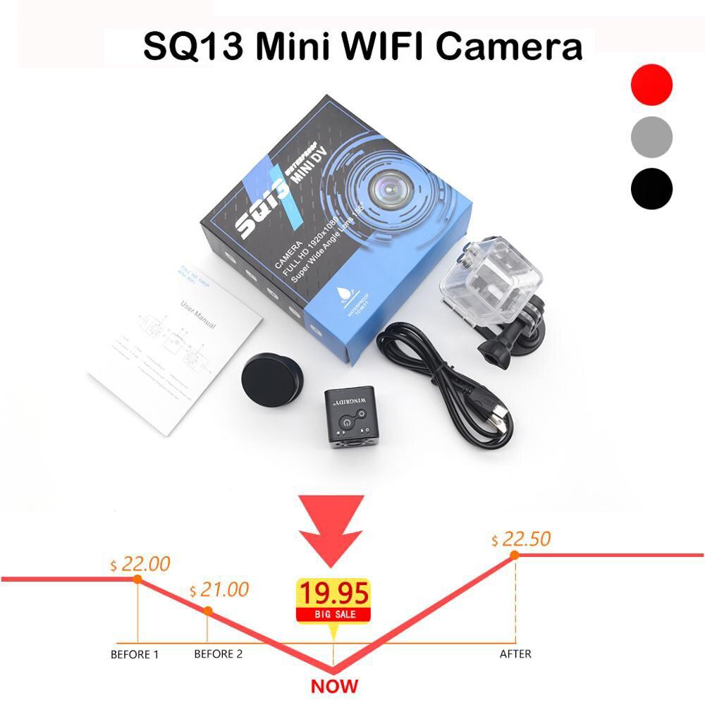 Mini Camera WiFi Cam SQ13 Full HD 1080P Sport DV Recorder Night Vision Small Action Camera Waterproof Camcorder DVR Pk Sq23 Sq11