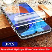 XINDIMAN 3PCS hydrogel Film for xiaomi redmi note5 Front+Back+Camera lens film note5pro Note5A screen protector