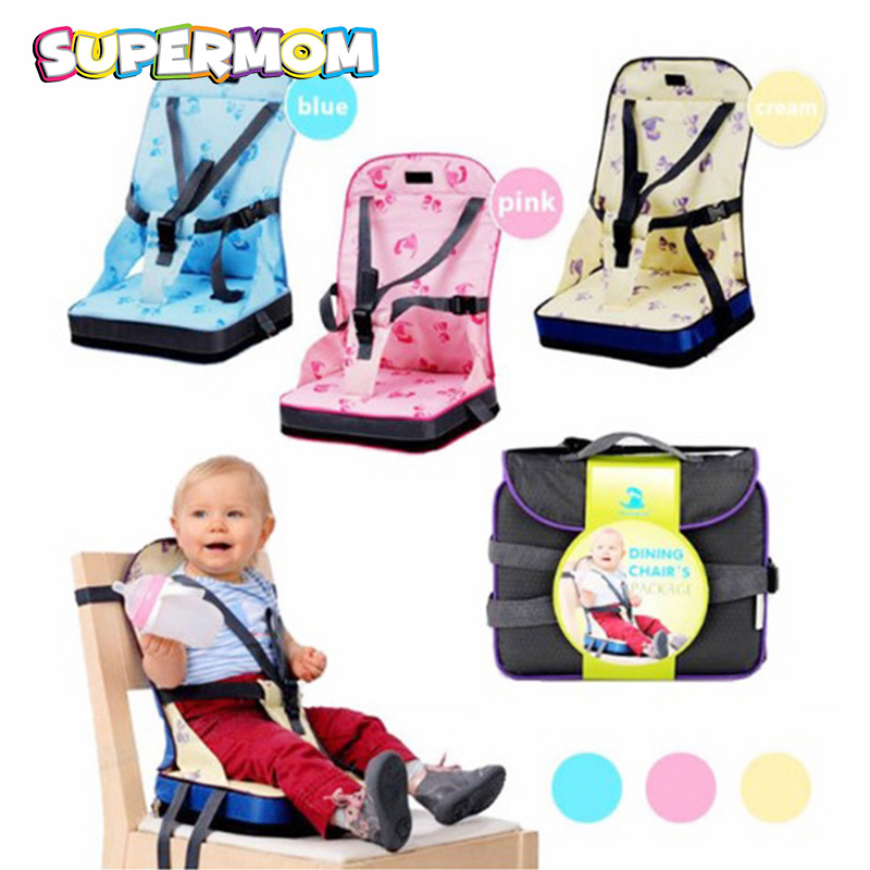 Infant Feeding Chair Baby Portable Seat Oxford Water Proof Fabric Infant Travel Foldable Child Safety Belt Feeding High Chair