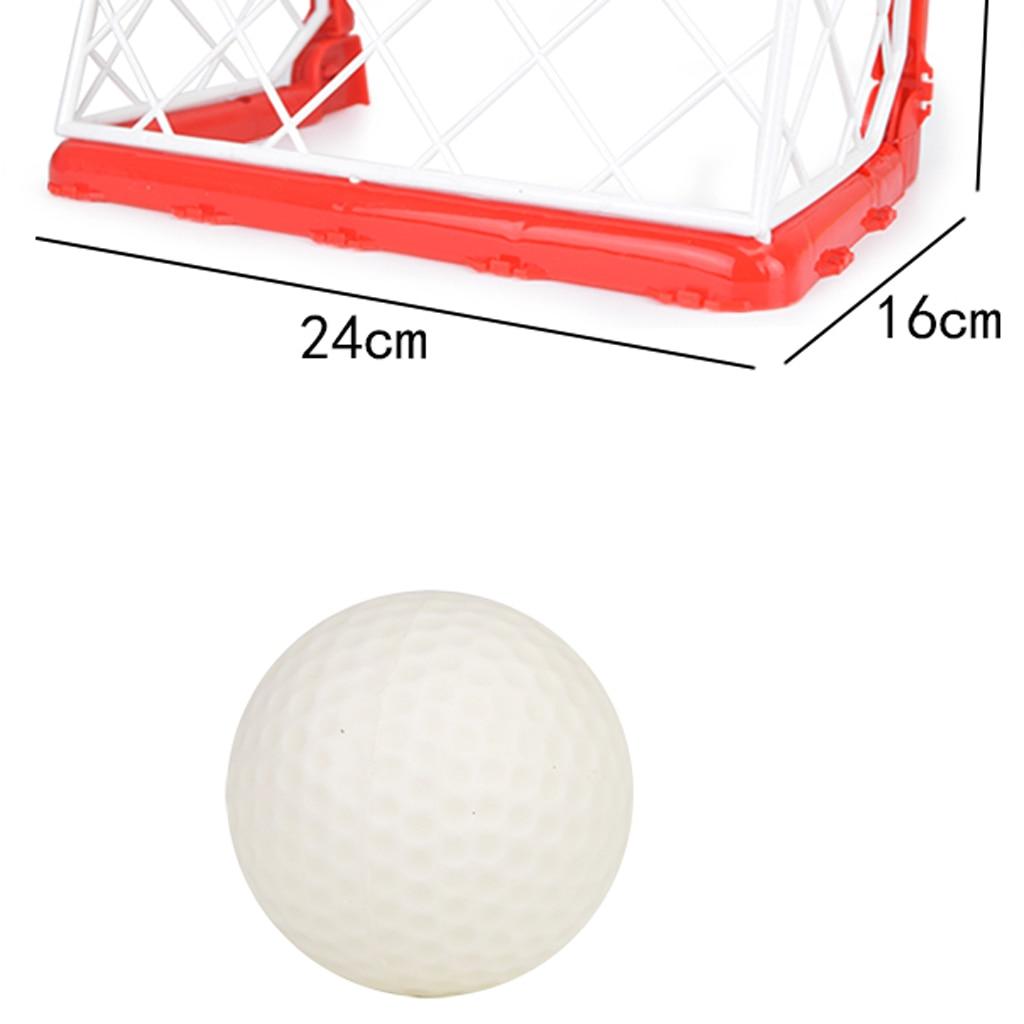 Mini Hockey Goal Set 2 Nets 2 Sticks 2 Balls Children Indoor Outdoor Games