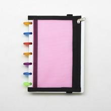 A5 Loose-leaf Notepad Storage Bag PP Material Cover Zipper Folders Binders File Folder Document