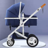 belecoo baby stroller High landscape stroller can sit reclining folding light two-way four-wheel shock absorption