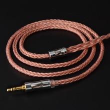 NiceHCK C16 3 16 noyaux câble cuivre haute pureté 3.5/2.5/4.4mm prise MMCX/2Pin/QDC/NX7 broche pour ZSX C12 C9 TFZ NiceHCK NX7 Pro/DB3