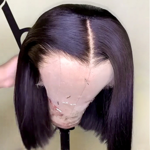 Image 3 - 13x4 4x4 Bob Lace Front Wigs Peruvian Straight Wig  Pre Plucked Human Hair 8 10 12 14 Inches Short Bob Human Hair Wigs Jarin