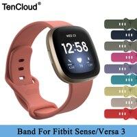 Correa de repuesto para Fitbit Versa 3, correa de silicona colorida para pulsera inteligente Fitbit Sense, accesorios para reloj inteligente