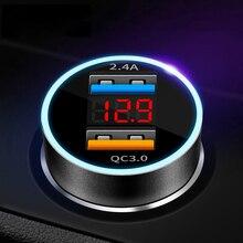 急速充電 3.0 2.0 USB 車の充電器 S10 S9 S8 プラス Xiaomi iPhone Huawei 社 QC3.0 QC2.0 高速充電自動車電話の充電器