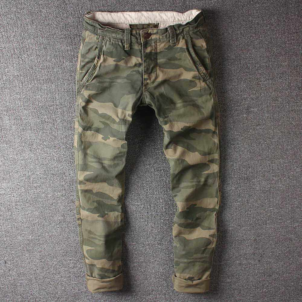 Pantalones Cargo De Camuflaje Retro Para Hombre Pantalon Tactico Militar Ajustado De Algodon Estilo Militar Ropa Informal Para Correr Pantalones Informales Aliexpress