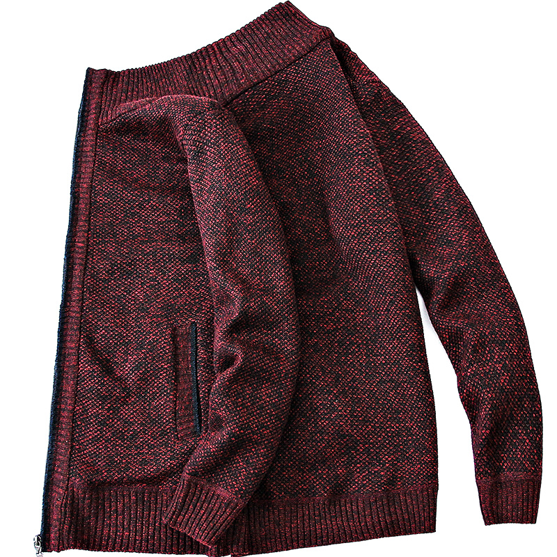 Cardigan Men Thick Warm Sweatercoat FashionSweater Cardigan Men Slim Fit Jumpers Knitred Winter Casual Sweater Mens Clothes 5