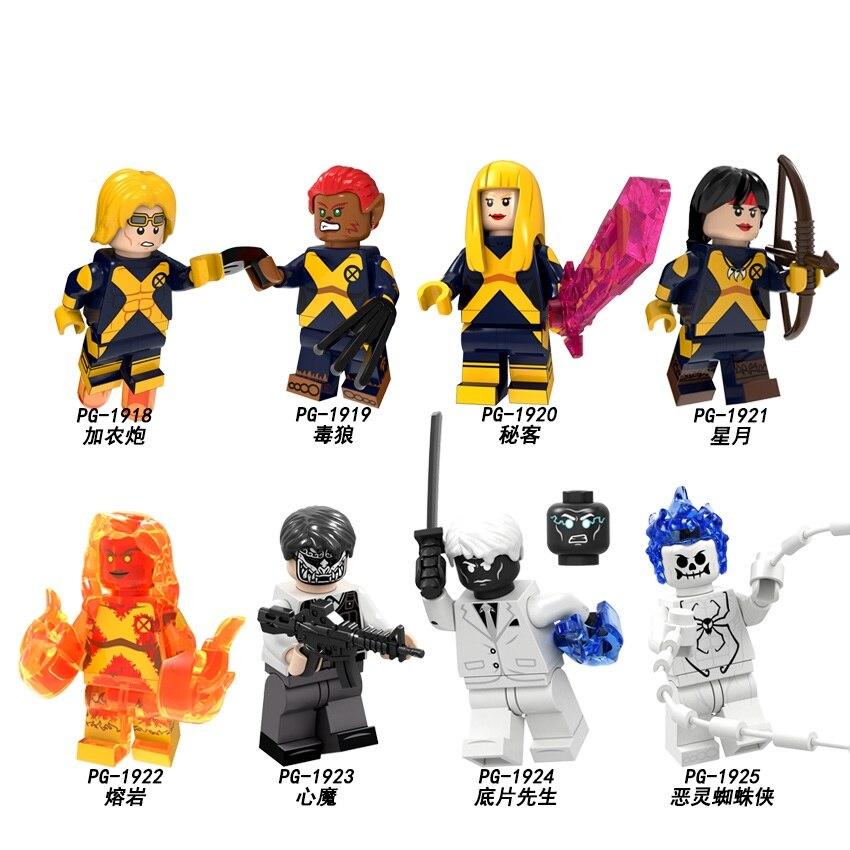 Building Blocks Super Heroes Cannonball Magik Evil Mister Negative Ahriman Spiderman Figures Action Toys For Children PG8219