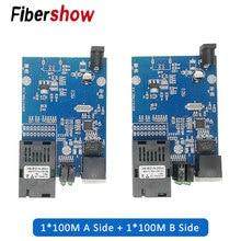 Медиа-конвертер волоконно-оптический к rj45 UTP 10/100M 1310/1550 волокна к ethernet-коммутатор волокна PCBA