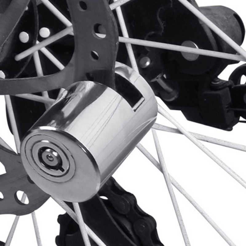 Sicurezza Scooter Moto Antifurto per bicicletta Heavy Duty Bike Disco freno Rotore Blocco rotore Blocco freno a disco di sicurezza Antifurto Blocco moto allarme a disco Black Blocco freno a disco
