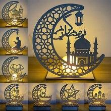 EID Мубарак деревянный кулон украшения на Рамадан Ислам Мусульманские вечерние украшения Eid Al Adha Ramadan и Eid Ramadan karem Вечерние
