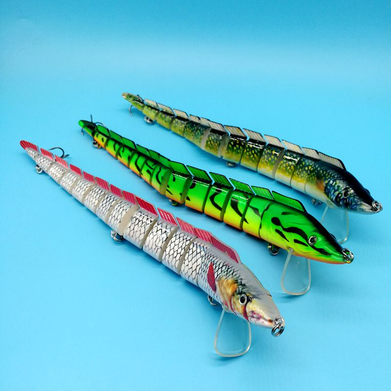 HOOFISH 1 шт. 13 сегментов рыболовная приманка 46 г/22,5 см 3 цвета пластик искусственный рыболовный воблер инструменты с 3X усиленными крючками - Цвет: 3pcs   mix color