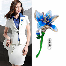 Japan and South Korea 2019 new cloisonne craft tulip brooch high-end fashion sweater small suit coat accessories ladies