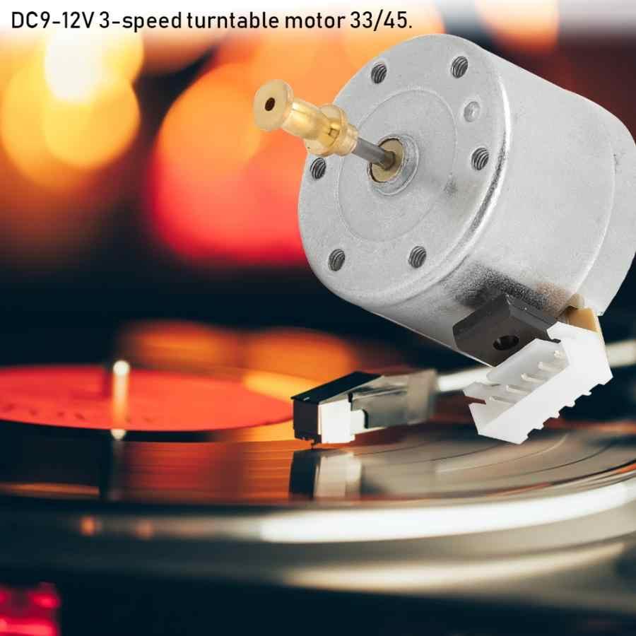 تيار مستمر 9-12 فولت 3 سرعات الدوار موتور فرشاة مسجل فينيل مسجل الدوار موتور 25 مللي متر تصاعد حفرة 33/45 دورة في الدقيقة