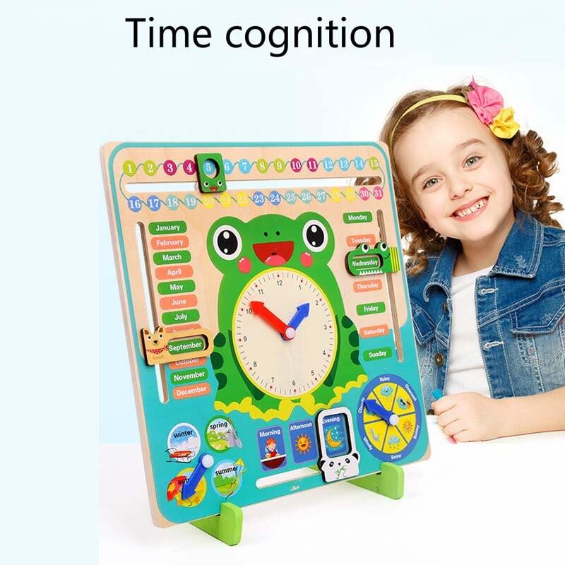 Montessori jouets bébé saison météo calendrier horloge temps Cognition éducation préscolaire en bois aides pédagogiques jouets pour enfants - 2